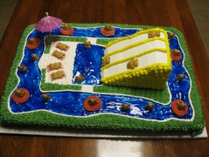 Waterpark Cake