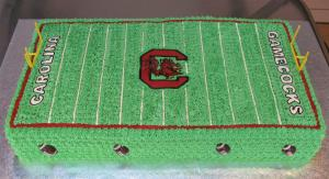 Gamecock Football Field Cake