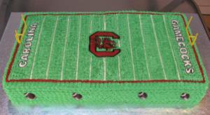 Gamecock Football Field Cake