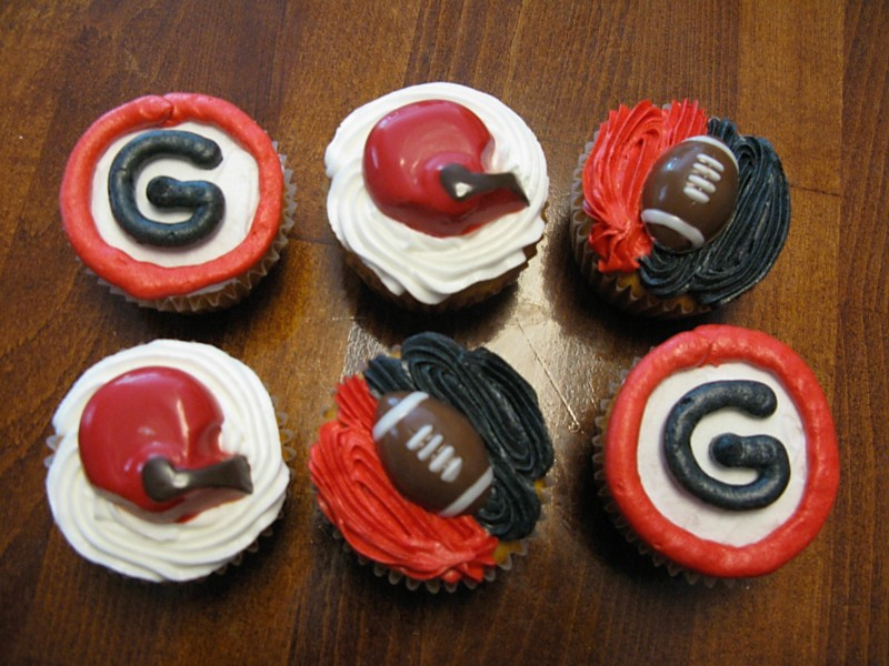georgia bulldog cupcakes college football goodies super sweet tooth 1482