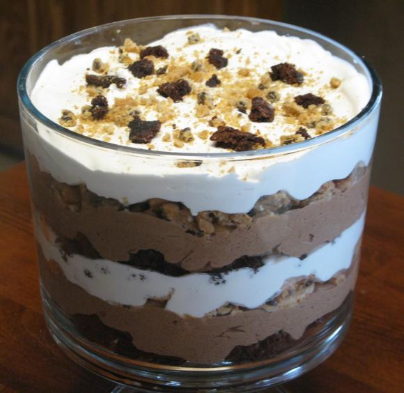 Easy Chocolate Pudding Trifle
