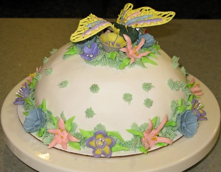 Butterfly Cake Pan Decorating Ideas : Butterfly Fondant Cake Super Sweet Tooth
