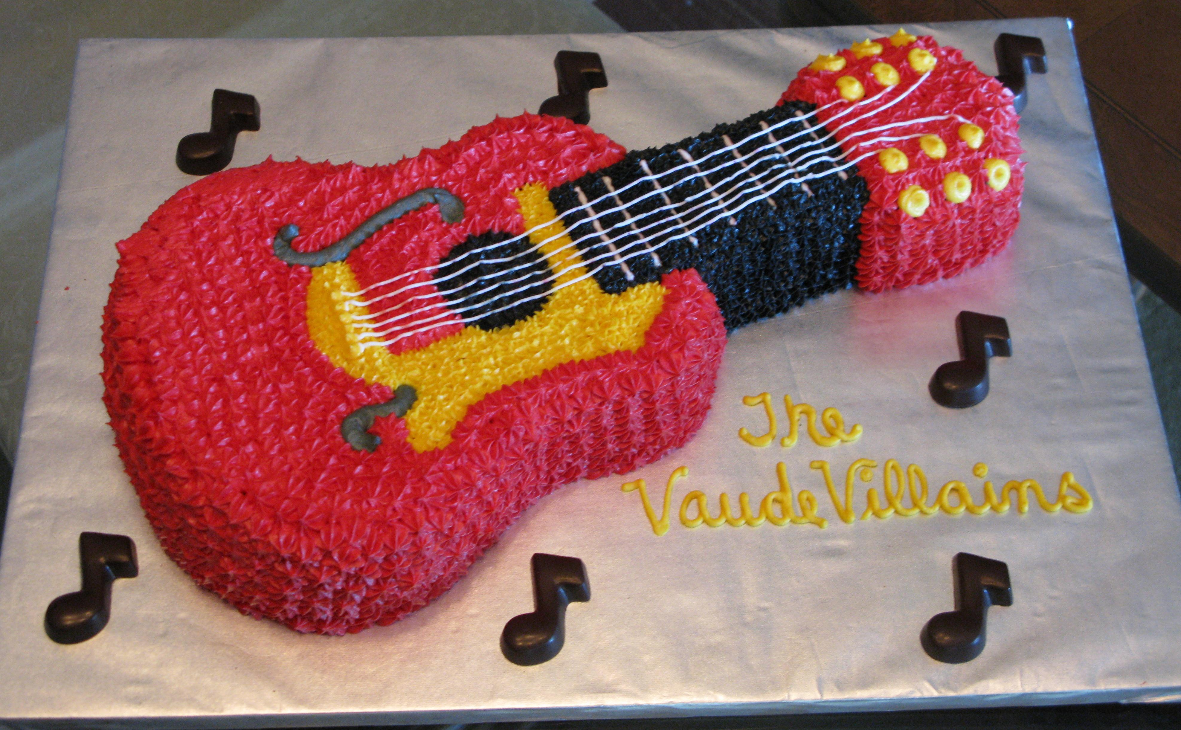 Admirable Guitar Cake Funny Birthday Cards Online Barepcheapnameinfo