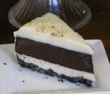 Black and White Chocolate Truffle Pie