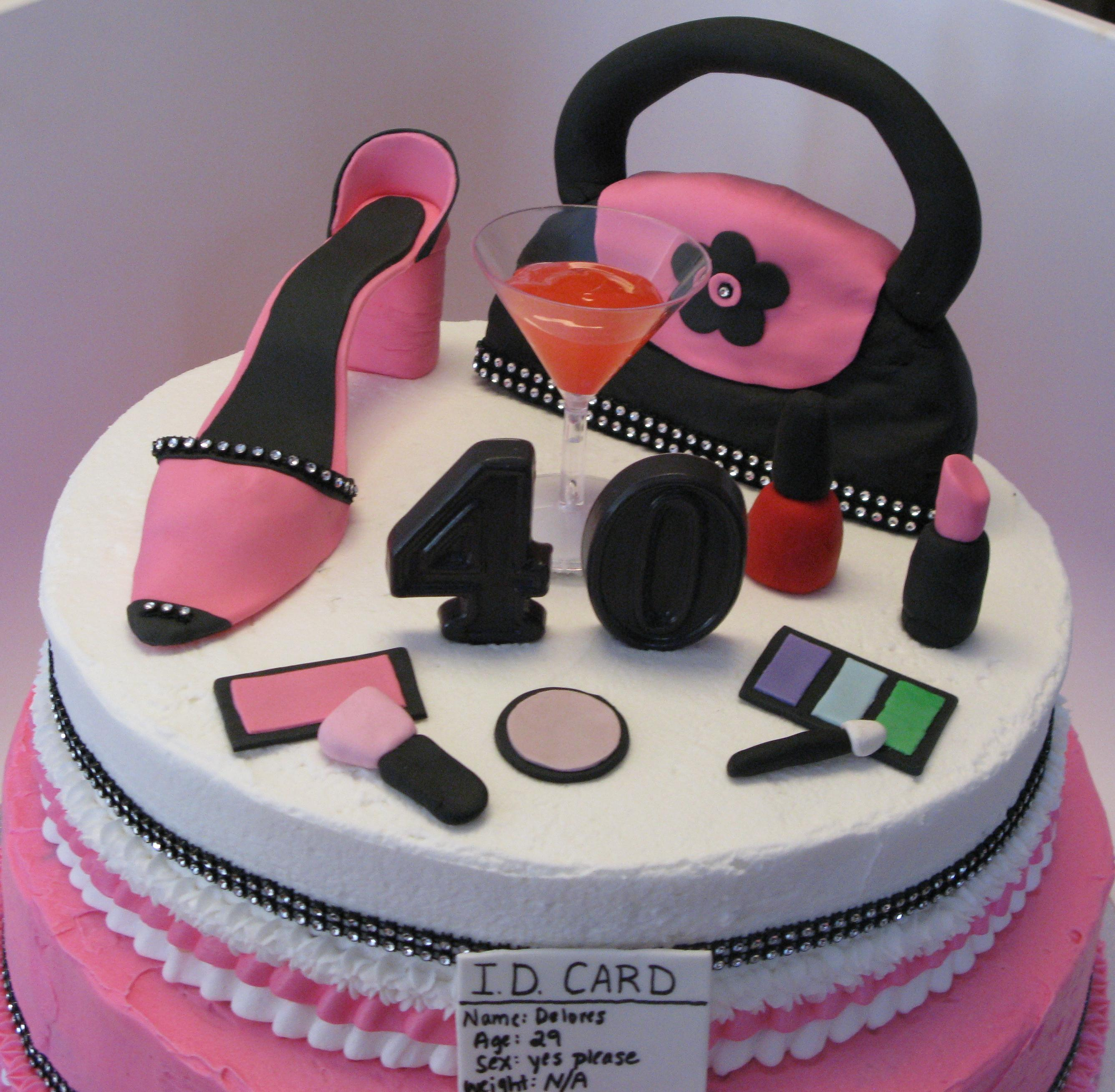 40th Birthday Girly Cake