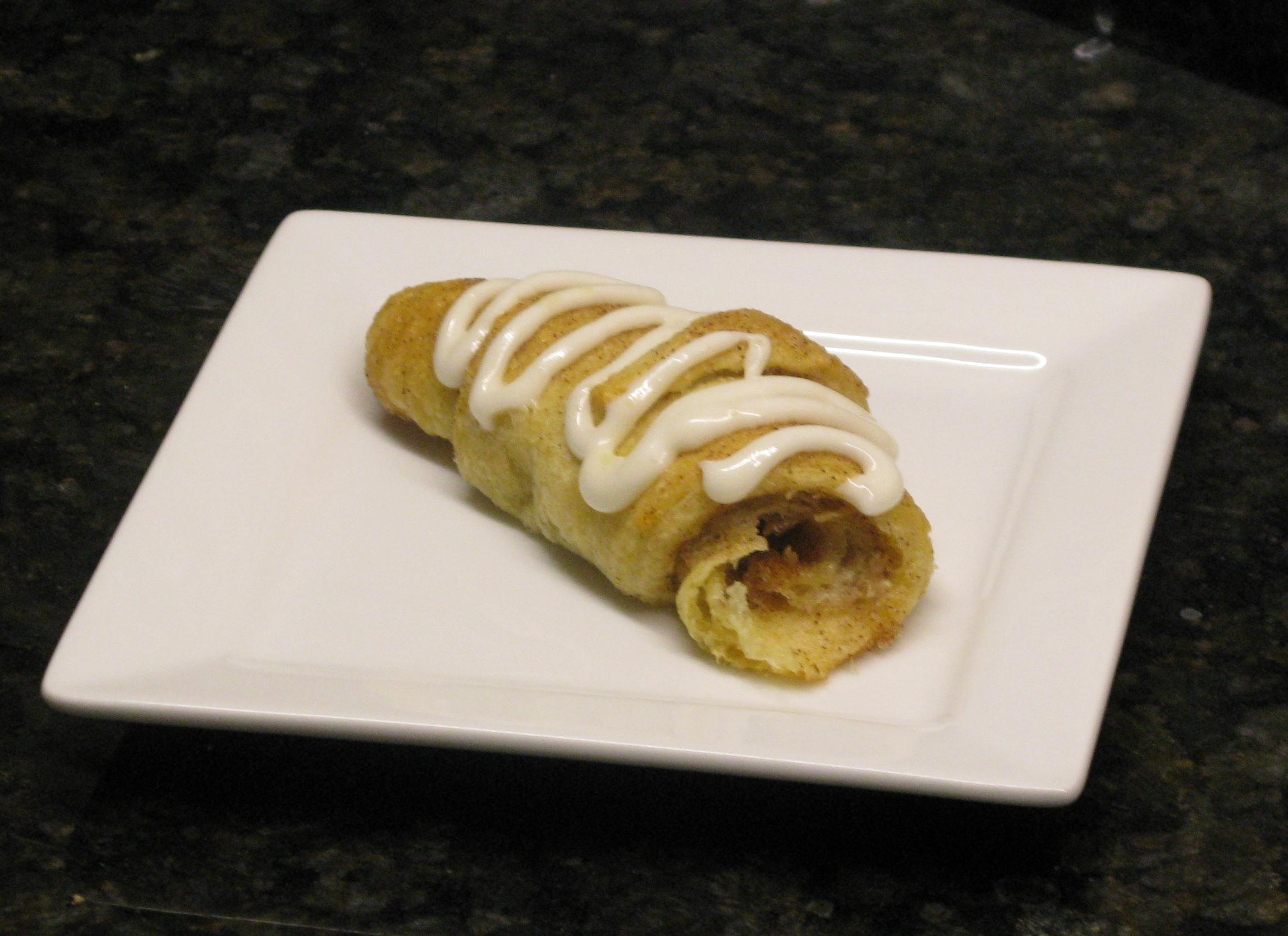 Cinnamon Sugar Crescent Rolls with Cream Cheese Glaze | Super Sweet ...