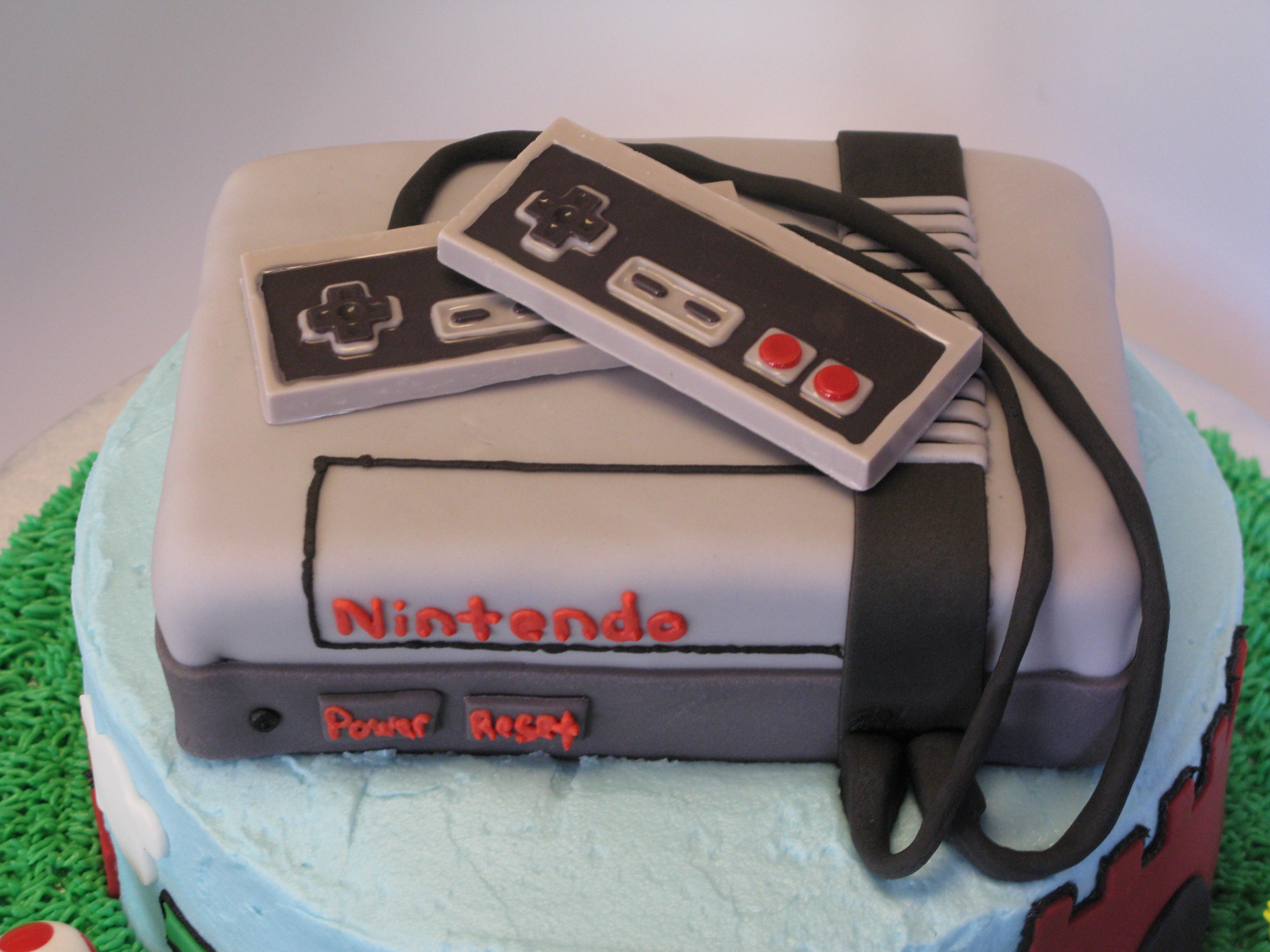 Fabulous Nintendo Super Mario Brothers Cake Personalised Birthday Cards Veneteletsinfo