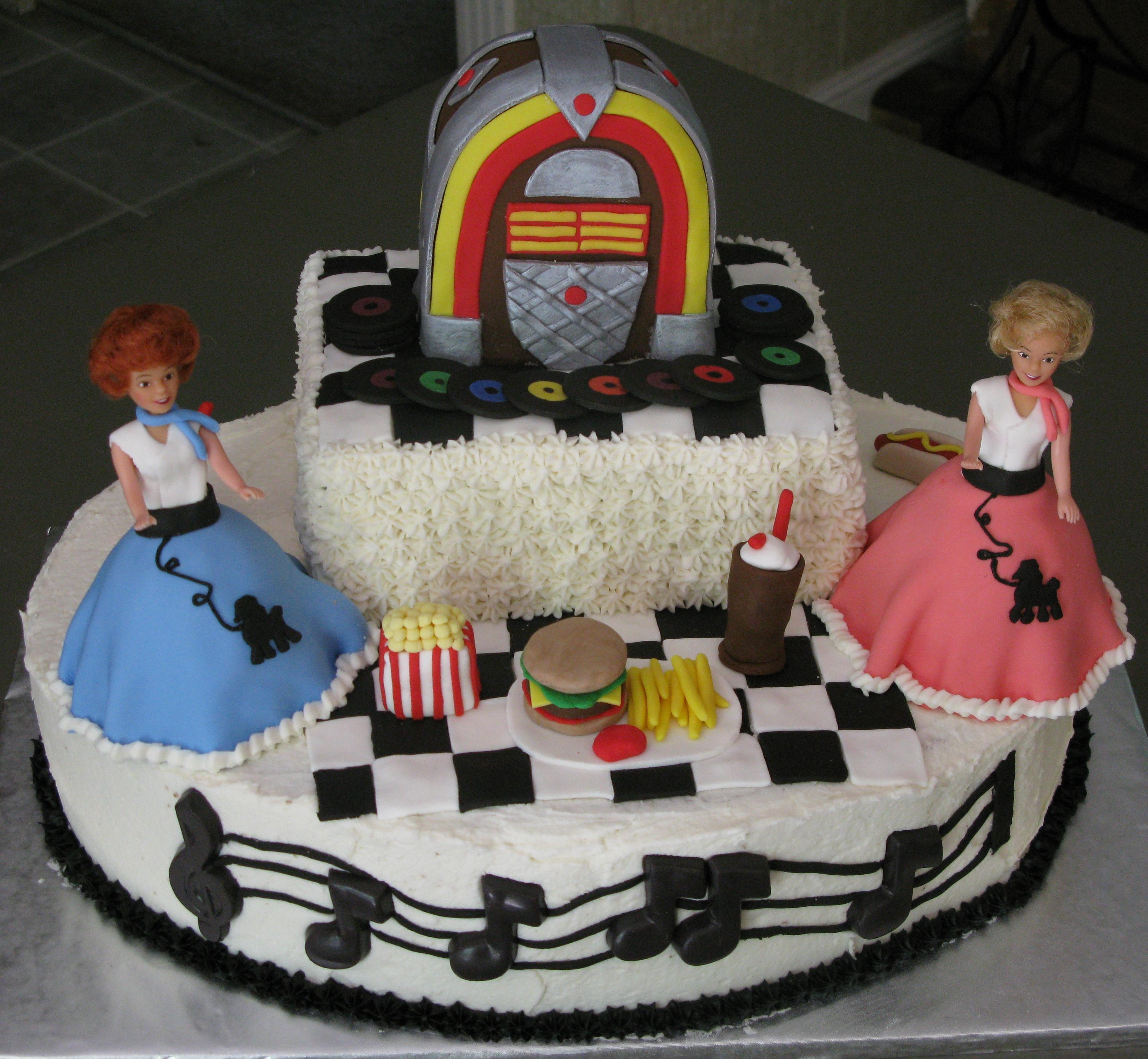 1950s birthday cake