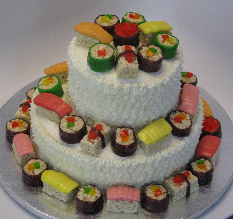 sushi cake sushi and candy sushi on pinterest. Black Bedroom Furniture Sets. Home Design Ideas