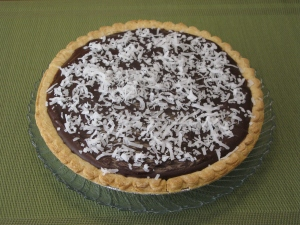 chocolate coconut pie 1