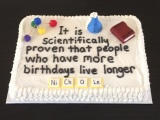 Humorous Science Cake